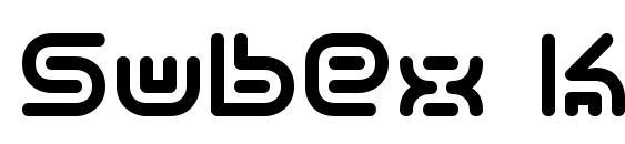 Шрифт Subex kg