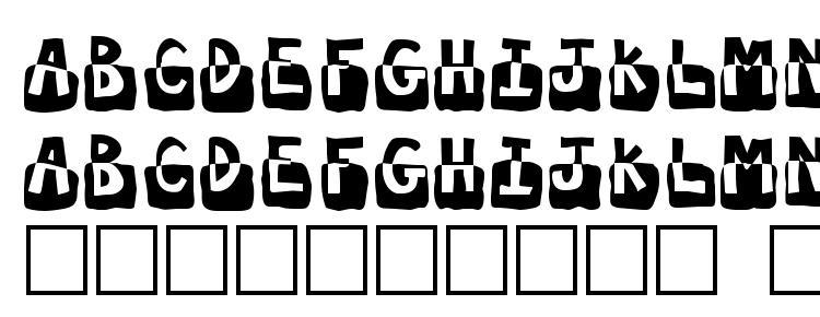 глифы шрифта Submergd, символы шрифта Submergd, символьная карта шрифта Submergd, предварительный просмотр шрифта Submergd, алфавит шрифта Submergd, шрифт Submergd