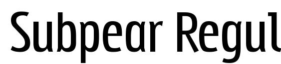 Subpear Regular Font