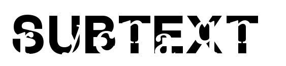 Subtext font, free Subtext font, preview Subtext font