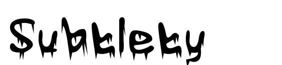 шрифт Subtlety, бесплатный шрифт Subtlety, предварительный просмотр шрифта Subtlety
