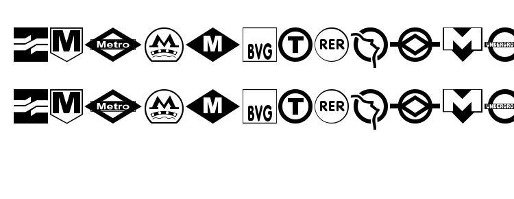 глифы шрифта Subway sign, символы шрифта Subway sign, символьная карта шрифта Subway sign, предварительный просмотр шрифта Subway sign, алфавит шрифта Subway sign, шрифт Subway sign