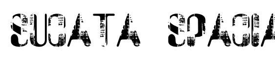 Шрифт Sucata spacial