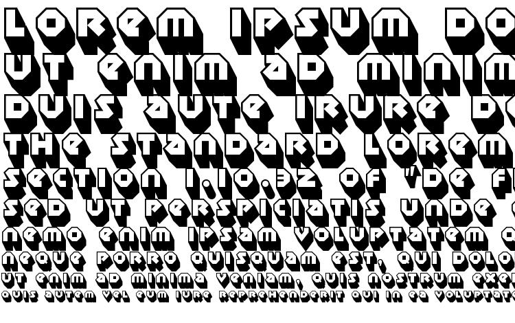 specimens Sudbury Basin 3D font, sample Sudbury Basin 3D font, an example of writing Sudbury Basin 3D font, review Sudbury Basin 3D font, preview Sudbury Basin 3D font, Sudbury Basin 3D font