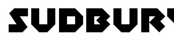 SudburyBasin Regular Font