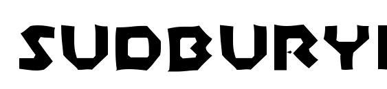 Шрифт SudburyBasinGaunt