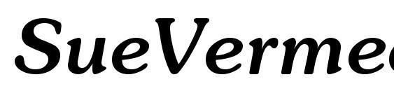 SueVermeer5 MedItalicSH Font