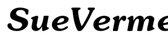 SueVermeer6 DemiItalicSH Font