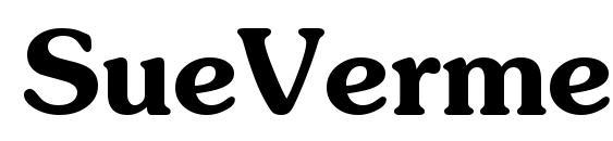 шрифт SueVermeer6 DemiSH, бесплатный шрифт SueVermeer6 DemiSH, предварительный просмотр шрифта SueVermeer6 DemiSH