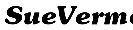 SueVermeer7 BoldItalicSH Font