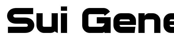 шрифт Sui Generis Bold, бесплатный шрифт Sui Generis Bold, предварительный просмотр шрифта Sui Generis Bold