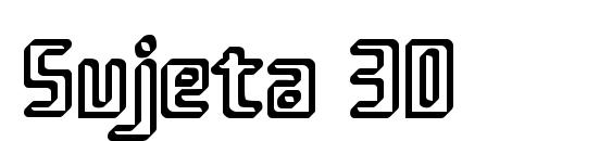Шрифт Sujeta 3D