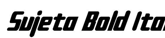 Sujeta Bold Italic Font