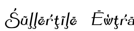 Summertime Extra Oblique Font