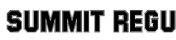 Summit Regular Font