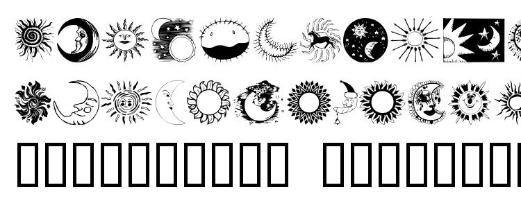 glyphs Sunandmoon font, сharacters Sunandmoon font, symbols Sunandmoon font, character map Sunandmoon font, preview Sunandmoon font, abc Sunandmoon font, Sunandmoon font