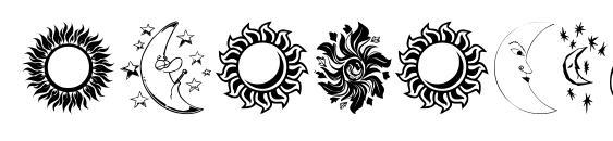 Шрифт Sunandmoon