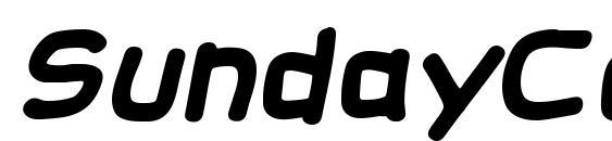 SundayComics BB Bold Font