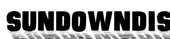 SundownDisplayCaps Font