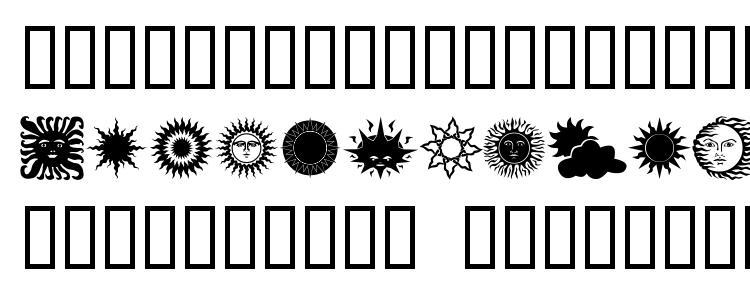 глифы шрифта Sunnmoon, символы шрифта Sunnmoon, символьная карта шрифта Sunnmoon, предварительный просмотр шрифта Sunnmoon, алфавит шрифта Sunnmoon, шрифт Sunnmoon