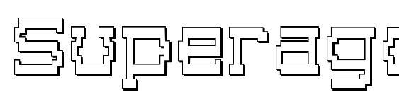 Шрифт Superago 3D