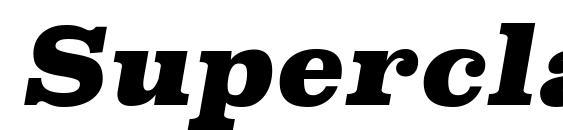 SuperclarendonBl Italic Font