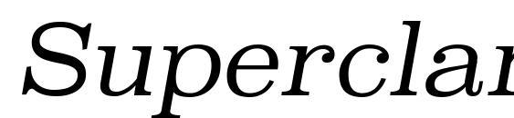 шрифт SuperclarendonLt Italic, бесплатный шрифт SuperclarendonLt Italic, предварительный просмотр шрифта SuperclarendonLt Italic