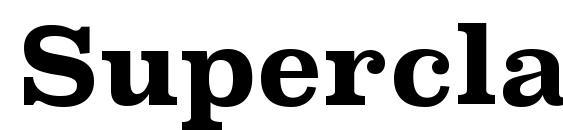 SuperclarendonRg Bold Font