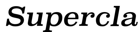 SuperclarendonRg Italic Font
