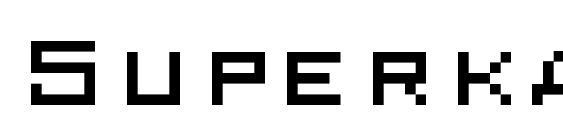 Шрифт Superkarcher