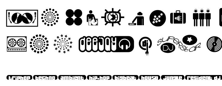 глифы шрифта Superstar DJ, символы шрифта Superstar DJ, символьная карта шрифта Superstar DJ, предварительный просмотр шрифта Superstar DJ, алфавит шрифта Superstar DJ, шрифт Superstar DJ