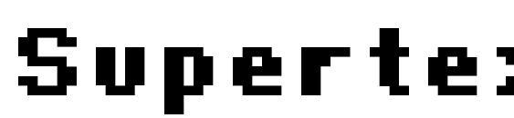 Шрифт Supertext 01 bold