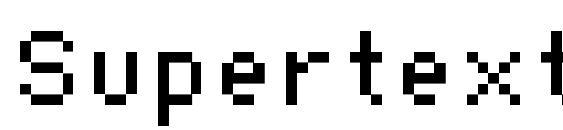 Шрифт Supertext 01