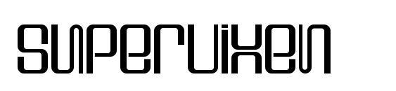 шрифт Supervixen, бесплатный шрифт Supervixen, предварительный просмотр шрифта Supervixen