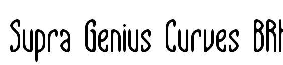 Шрифт Supra Genius Curves BRK