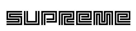 Шрифт Supreme