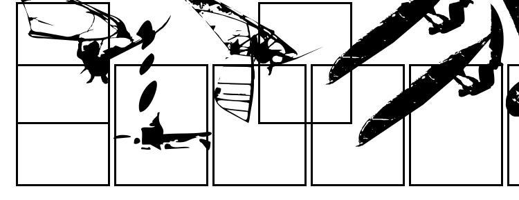 глифы шрифта Surfbat, символы шрифта Surfbat, символьная карта шрифта Surfbat, предварительный просмотр шрифта Surfbat, алфавит шрифта Surfbat, шрифт Surfbat