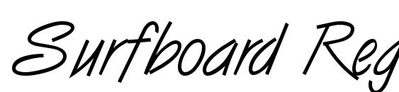 Surfboard Regular DB Font