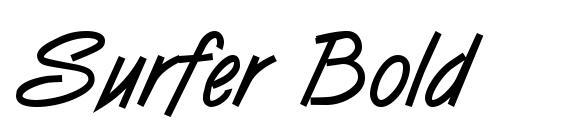 Шрифт Surfer Bold