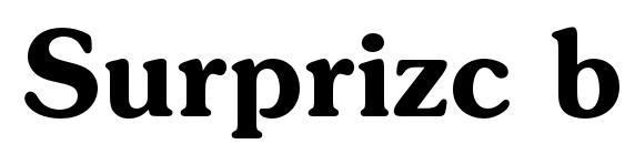 Шрифт Surprizc bold
