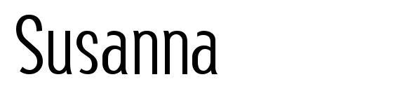 Шрифт Susanna