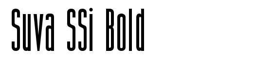 Шрифт Suva SSi Bold
