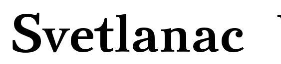 Шрифт Svetlanac bold