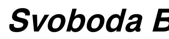 Svoboda Bold Italic Font