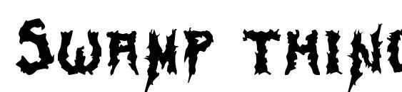 Swamp thing Font