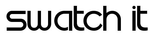 Swatch it font, free Swatch it font, preview Swatch it font