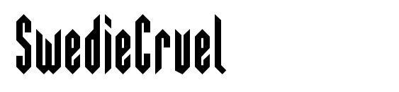 шрифт SwedieCruel, бесплатный шрифт SwedieCruel, предварительный просмотр шрифта SwedieCruel
