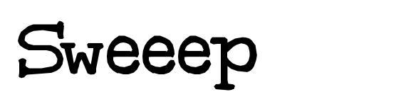 Шрифт Sweeep