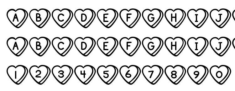 glyphs Sweet hearts bv font, сharacters Sweet hearts bv font, symbols Sweet hearts bv font, character map Sweet hearts bv font, preview Sweet hearts bv font, abc Sweet hearts bv font, Sweet hearts bv font
