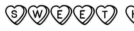 Шрифт Sweet hearts bv